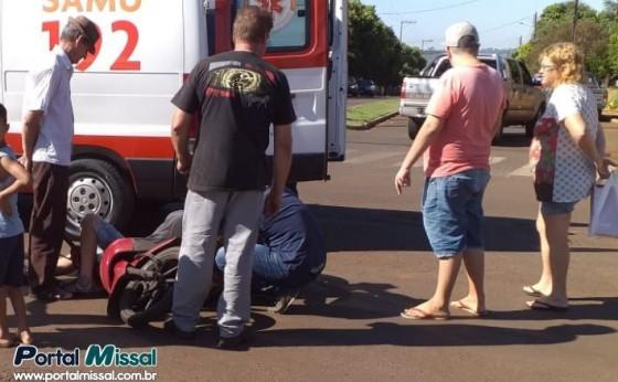 Carro e Moto se envolvem em acidente no centro de Missal
