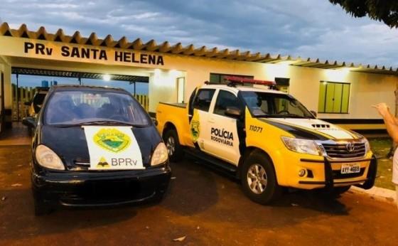 Casal é preso pela PRE de Santa Helena com veículo roubado