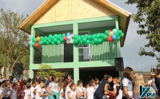 Casinha do Projeto de Educação Financeira da Escola Novo Milênio foi inaugurada