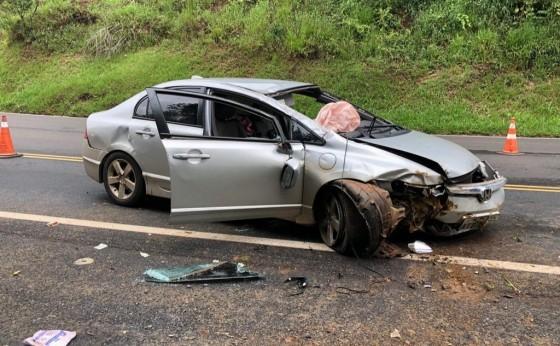 Cinco pessoas ficam feridas em grave acidente envolvendo veículo de Medianeira