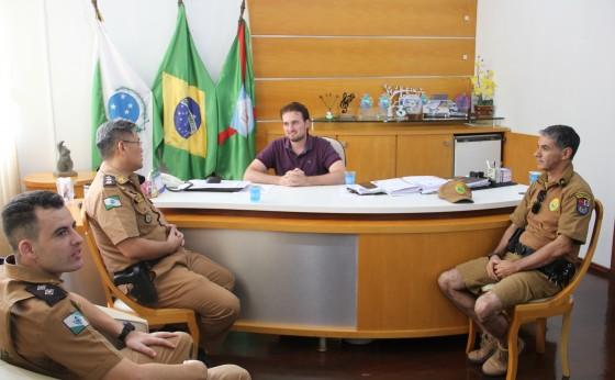 Comandante do 14º Batalhão da PM esteve em Missal reforçando apoio