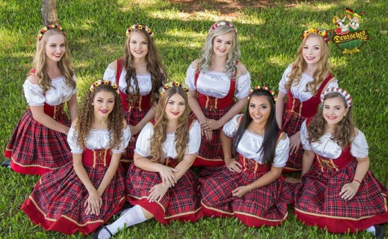 Concurso da Rainha na 18ª Deutsches Fest tem 08 candidatas