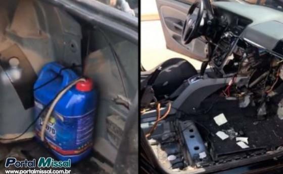 Condutor é detido pela PM com veículo preparado para transporte de ilícito em Missal