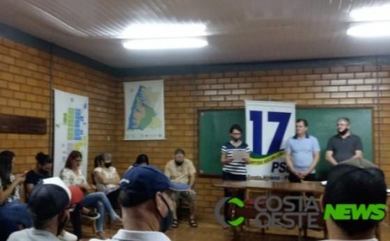 Convenção do PSL em Santa Helena lança nome de Lenecir Benacchio pra compor chapa como vice-prefeito