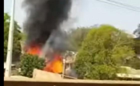 Corpo de Bombeiros age no combate a incêndio na região da Pedreira em Medianeira