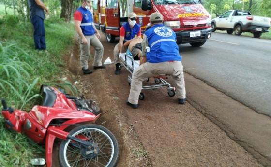 Corpo de Bombeiros socorre motociclista em estado grave na PR-497