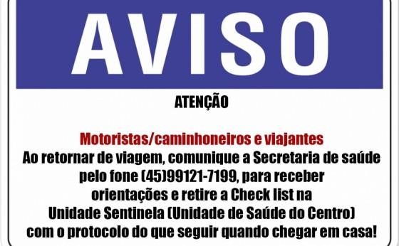 Covid-19: orientações para motoristas