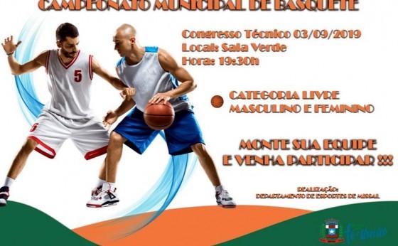 Departamento de Esportes de Missal prepara campeonato municipal de Basquetebol