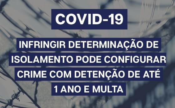 Desrespeitar o Isolamento por Covid-19 é Crime