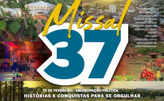 Dia 1º de fevereiro de 2020 Missal completa 37 anos de Emancipação