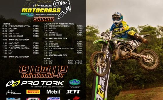 Divulgada a programação da penúltima etapa do Paranaense De Motocross