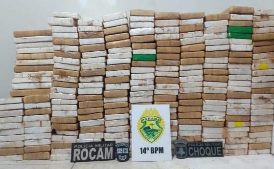 Droga apreendida no final da tarde em Missal e Céu Azul totalizou 245 kg de cocaína