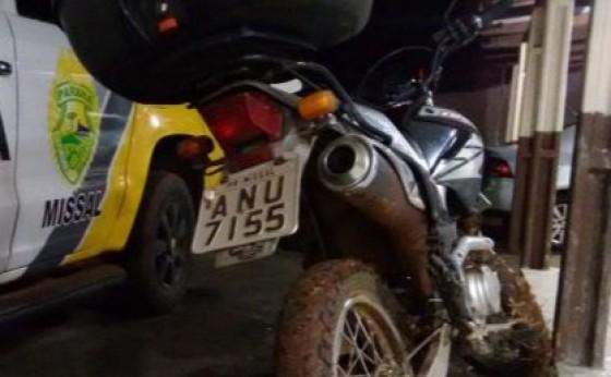 Em rápida ação, Polícia Militar recupera moto que havia sido roubada