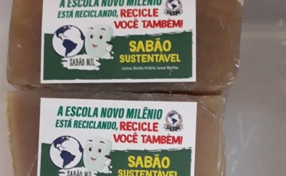 Escola Novo Milênio estará fazendo a venda de sabão artesanal do Projeto de Educação Financeira