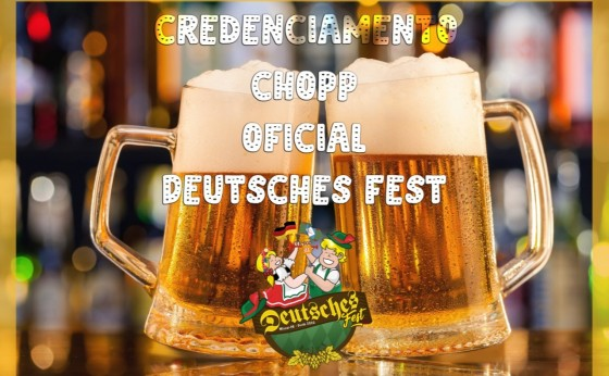 Está aberto credenciamento para o Chopp Oficial da 19ª Deutsches Fest