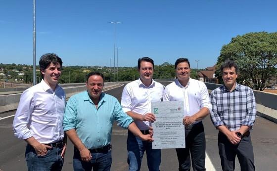 Governo do Estado libera o tráfego de veículos no novo viaduto de Foz do Iguaçu