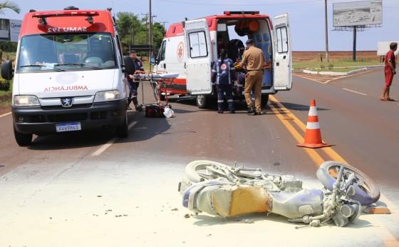 Grave acidente na PR-497 no trevo de acesso à Itaipulândia