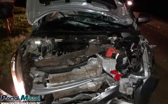 Grave acidente na saída de Missal deixa uma vítima fatal e um ferido