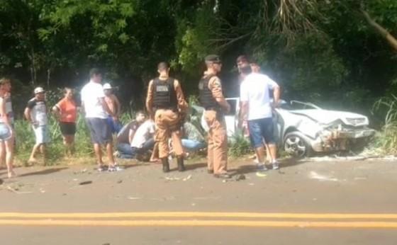 Grave acidente registrado na rodovia PR 495 no Portão Ocoí em Missal