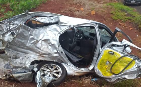 Grave acidente seguido de roubo registrado na PR 495 entre Missal e Medianeira