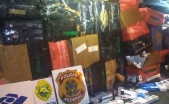 Homem é preso em Itaipulândia com veículo furtado e cigarros contrabandeados