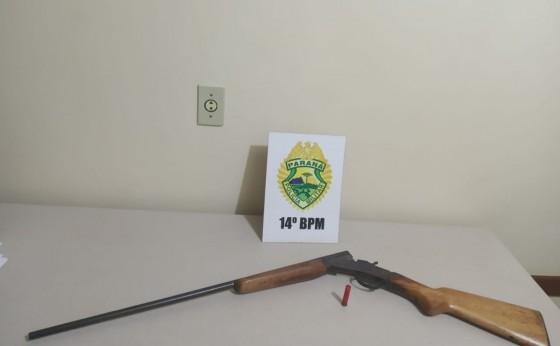 Homem é preso por ameaçar vizinho com arma de fogo em Itaipulândia