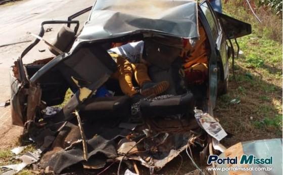 Homem fica gravemente ferido em acidente na PR 585 em São Pedro do Iguaçu