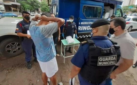 Homem leva multa de R$ 1 mil por caminhar sem máscara no Paraná
