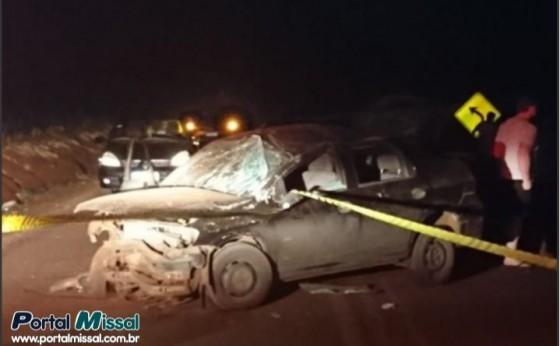Homem morre e duas pessoas ficam feridas em capotamento na PR 495