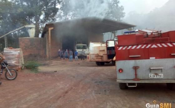 Incêndio em cerâmica é registrado em Itaipulândia
