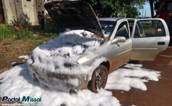 Incêndio em veículo é registrado em São Miguel do Iguaçu