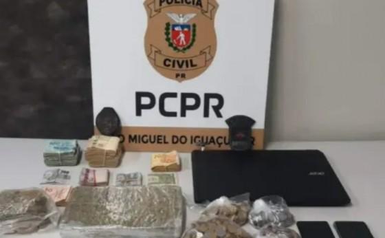 Itaipulândia: Operação da Pol. Civil contra o tráfico de drogas apreende mais de R$ 30 mil