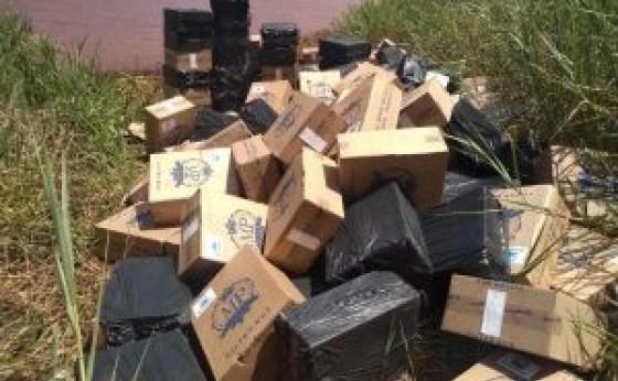 Itaipulândia: Veículos e cigarros contrabandeados são apreendidos e duas pessoas são presas