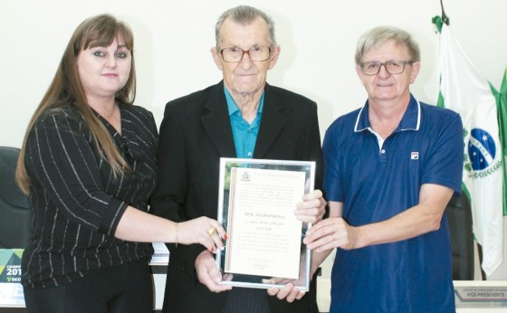 José Welter recebe Moção Honrosa da Câmara de Vereadores