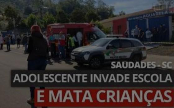 Jovem invade escola e mata três crianças e dois adultos no Oeste de SC