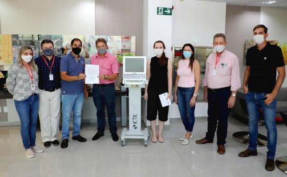 Lar Cooperativa realiza doação de mais um respirador para tratamento de pacientes com Covid-19.