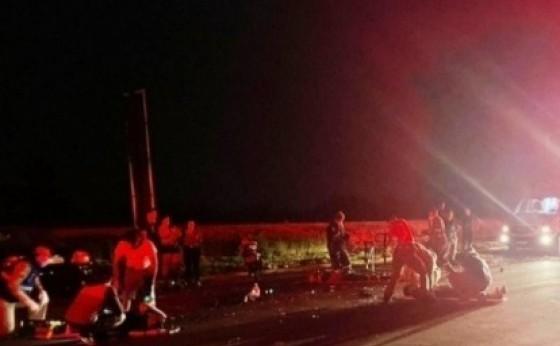 Medianeira: Atropelamento na PR 495 resulta em um óbito e cinco pessoas gravemente feridas