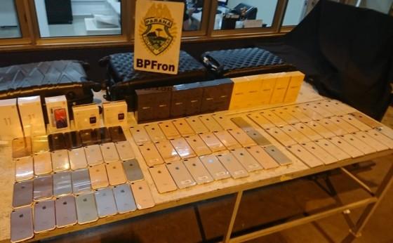 Medianeira: BPFRON apreende contrabando durante abordagem a ônibus