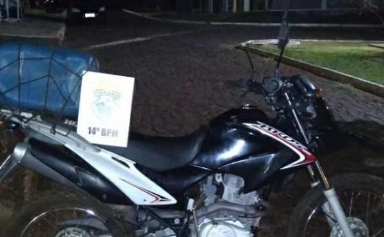 Medianeira: Indivíduo é detido pela PM após se acidentar com moto furtada em Serranópolis
