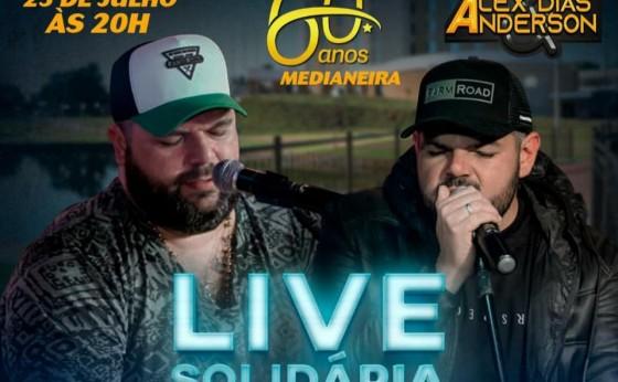 Medianeira: Live Solidária com Alex Dias &Anderson comemoram aniversário da cidade