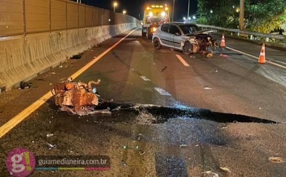 Medianeira: Motorista é ejetado de veículo após grave acidente na BR 277