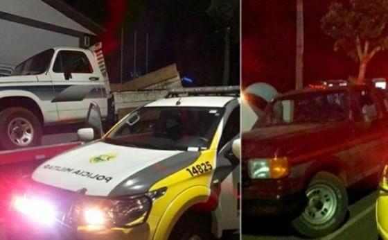 Missal: PM recupera duas caminhonetes que haviam sido roubadas