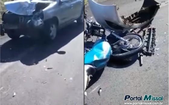 Morador do Portão Ocoí fica ferido em acidente na Estrada da Santa em Itaipulândia