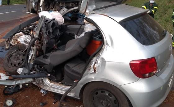 Moradores de Medianeira morrem em acidente na BR-277, em Cantagalo