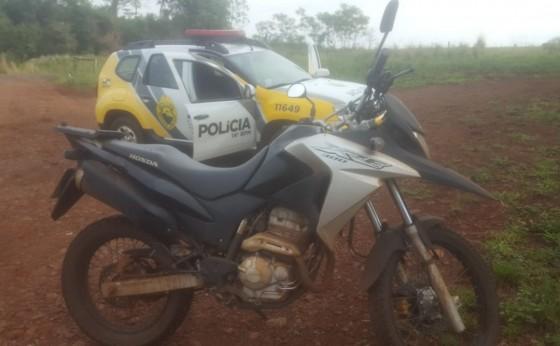 Moto roubada na PR 495 em Missal é localizada pela Polícia Militar