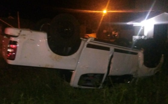 Motociclista é socorrido após se envolver em acidente no Vila Verde com Ana Cláudia em Medianeira