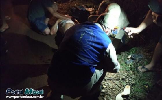 Motociclista fica ferido em acidente na PR 497