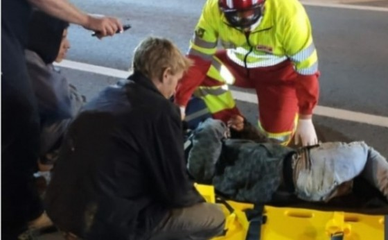 Motociclista se envolve em acidente na BR 277 em Medianeira