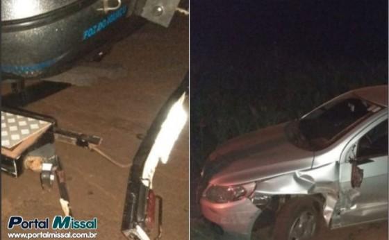 Motorista embriagado causa acidente em Missal