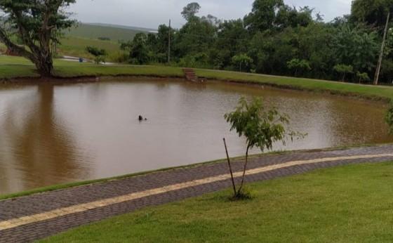 Motorista perde o controle e veículo no Lago Municipal de São Miguel do Iguaçu
